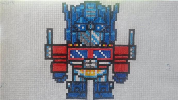Populaire Résultats du concours de dessin Pixel art sur le thème des Robots  RG87