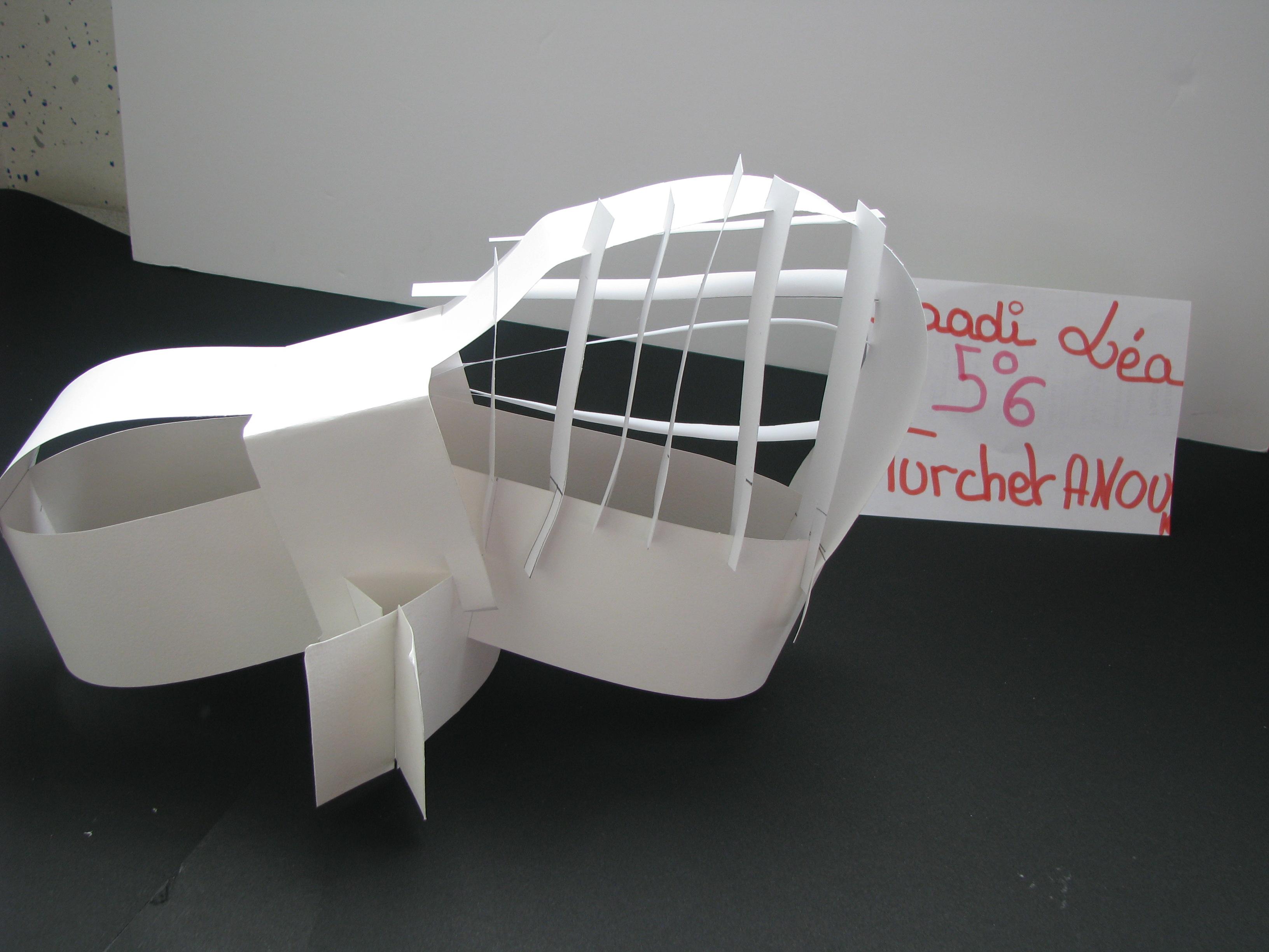 Connu Architecture de papier classe de 5ème - Site du collège Jean  HP94