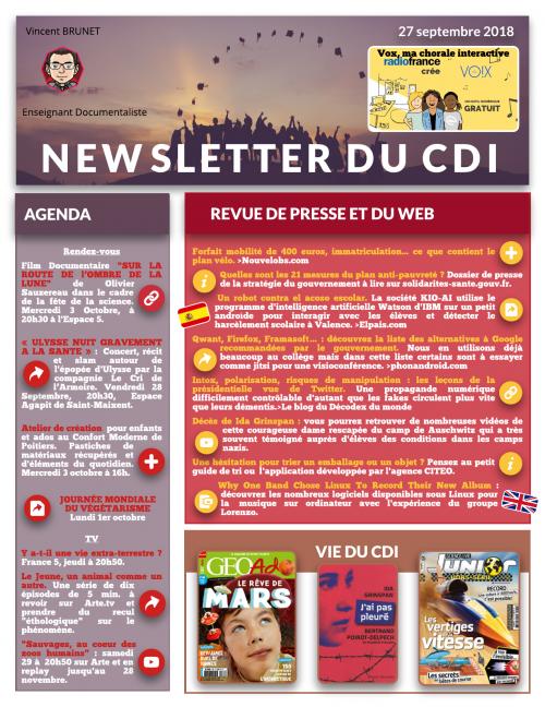 7ad6f628a1d Newsletter du CDI - 27 septembre 2018 - Site du collège Jean Monnet ...
